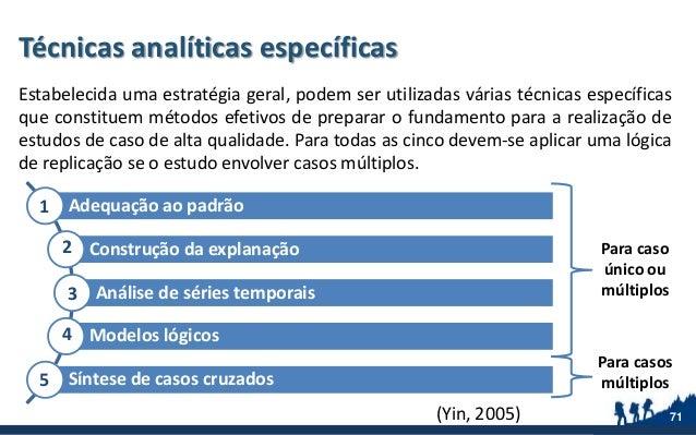 Técnicas analíticas específicas Estabelecida uma estratégia geral, podem ser utilizadas várias técnicas específicas que co...