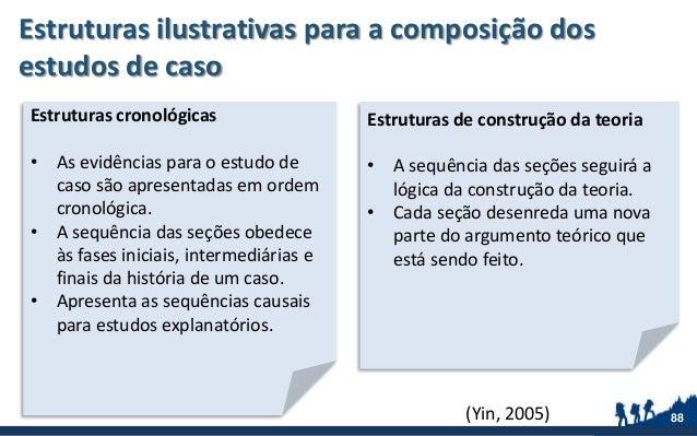 Estruturas ilustrativas para a composição dos estudos de caso 88 Estruturas cronológicas • As evidências para o estudo de ...