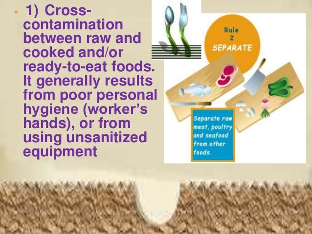 4) Raw,contaminatedingredientsused Withoutfurther Cooking.