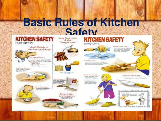 kitchen safety and sanitation rh slideshare net list of kitchen safety rules