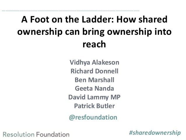 ……………………………………………………………………………………………………..  A Foot on the Ladder: How shared ownership can bring ownership into reach Vidhya...