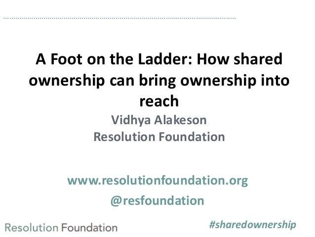 Sharing the spoils event: Vidhya Alakeson presentation Slide 2
