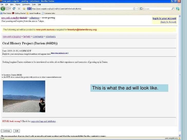 web mjesta poput craigslist dating datiranje ambrotipom