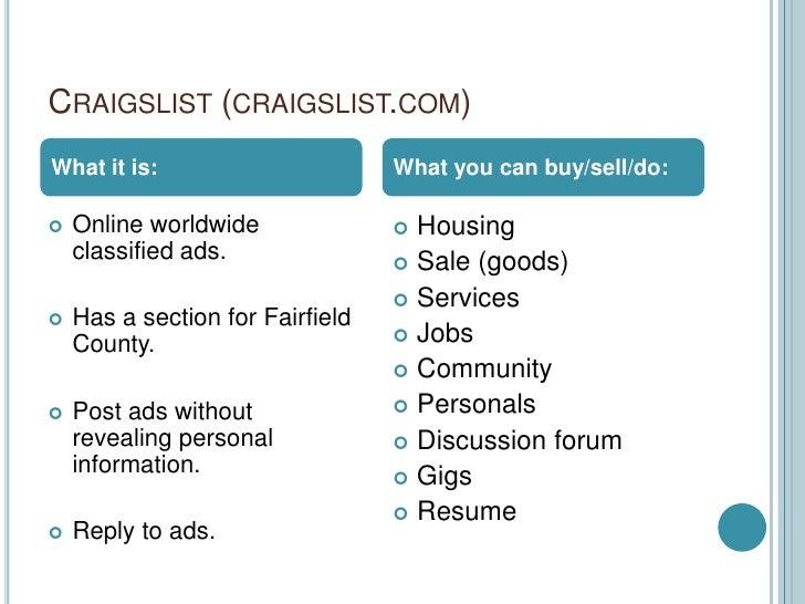 Craigslist fairfield county personals