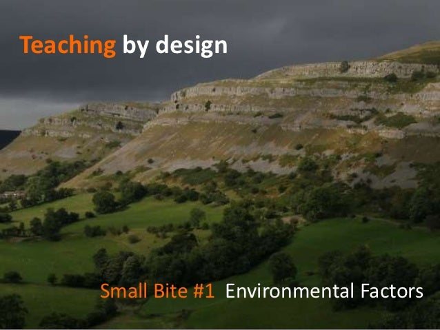 Teaching by design      Small Bite #1 Environmental Factors
