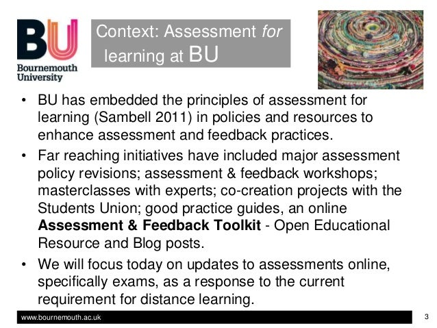 'Moving assessment online: resources to support staff in an unexpected distance-learning scenario'. Slide 3