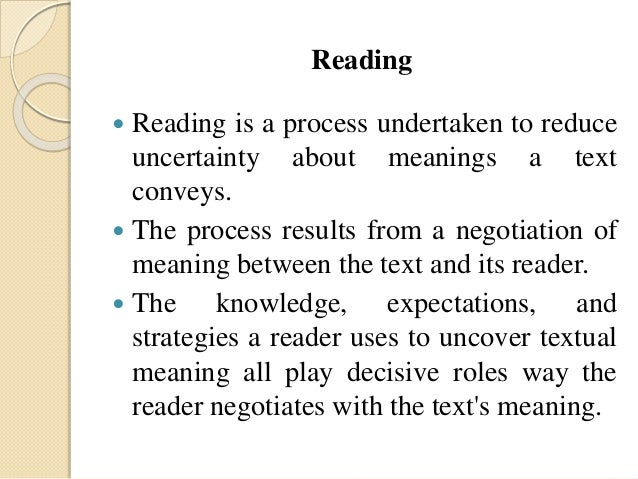 the use of lexical and grammatical references to reading