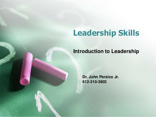 development of leadership skills essay