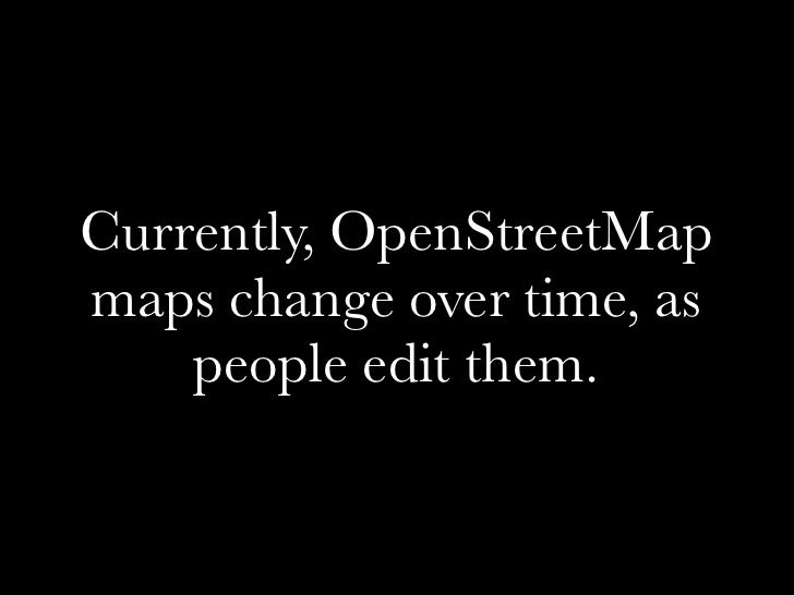 Mapping History on Open Street Map Slide 2