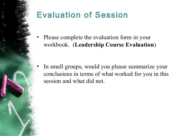 Strategic Thinking Vision and Leadership – Small Group Evaluation Form