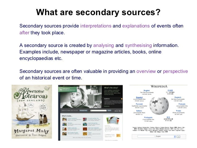 primary and secondary sources Library research guide: history of science: introduction of science to find secondary source articles that cite a specified secondary or primary source.