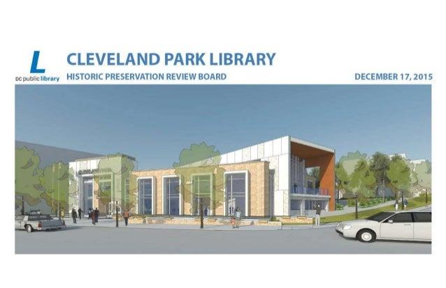 Cleveland Park Library Design Concept