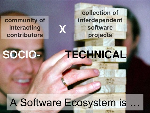 SOCIO- TECHNICAL A Software Ecosystem is … X