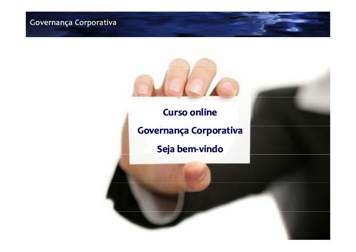 Governança Corporativa                              Curso online                         Governança Corporativa           ...