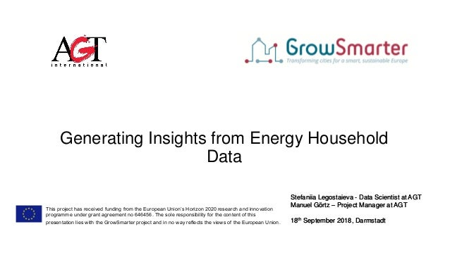 Generating Insights from Energy Household Data Stefaniia Legostaieva - Data Scientist at AGT Manuel Görtz – Project Manage...
