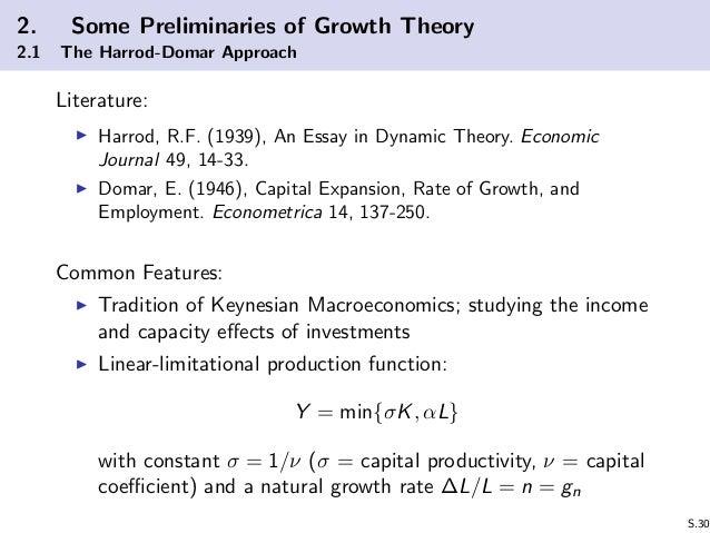 an essay in dynamic theory harrod 1939 Harrod r f 1939 an essay in dynamic theory economic journal 49 14 33 harrod r f from economics 321 at kadir has Üniversitesi.