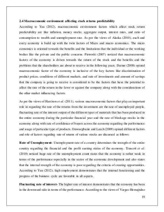 Market Economy and Macro Environment Factors Essay