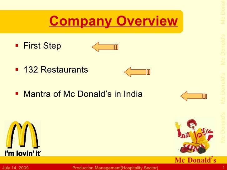 Mc Donal                 Company Overview                                                                                 ...