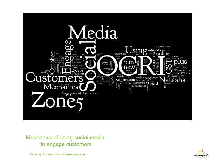Natasha D'Souza www.virtualeyesee.com Mechanics of using social media  to engage customers