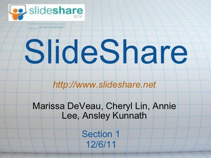 Marissa DeVeau, Cheryl Lin, Annie Lee, Ansley Kunnath http://www.flickr.com/photos/dantaylor/2628 81868/sizes/ o/in/photos...