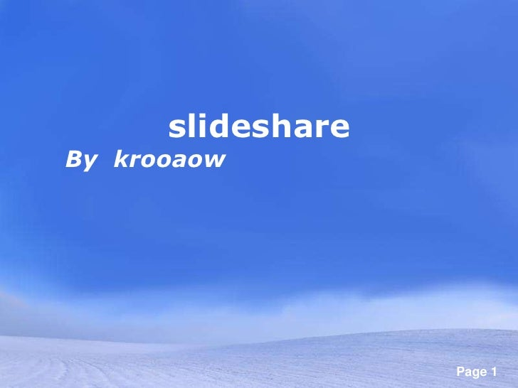 การใช้ slideshare<br />By  krooaow<br />