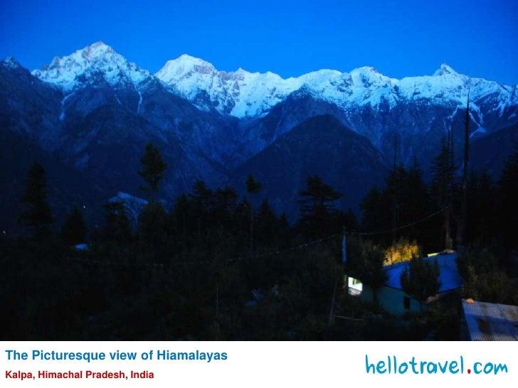 The Picturesque view of Hiamalayas<br />Kalpa, Himachal Pradesh, India<br />