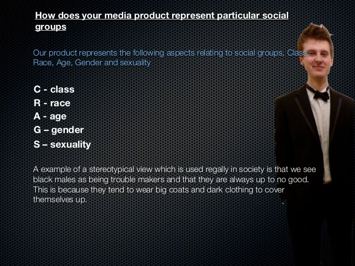 How does your media product represent particular socialgroupsOur product represents the following aspects relating to soci...