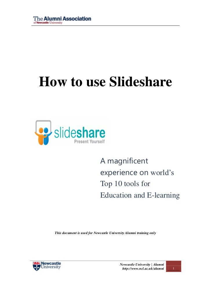 How to use Slideshare                                A magnificent                                experience on world's   ...