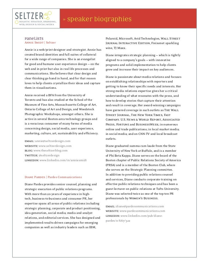 holistic strategy, branding,    » speaker biographiesweb, design & social media    Panelists                              ...