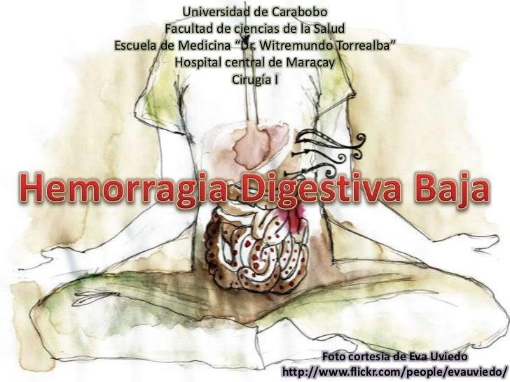 """Universidad de Carabobo<br />Facultad de ciencias de la Salud<br />Escuela de Medicina """"Dr. WitremundoTorrealba""""<br />Hosp..."""