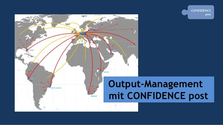 Output-Management   mit CONFIDENCE post