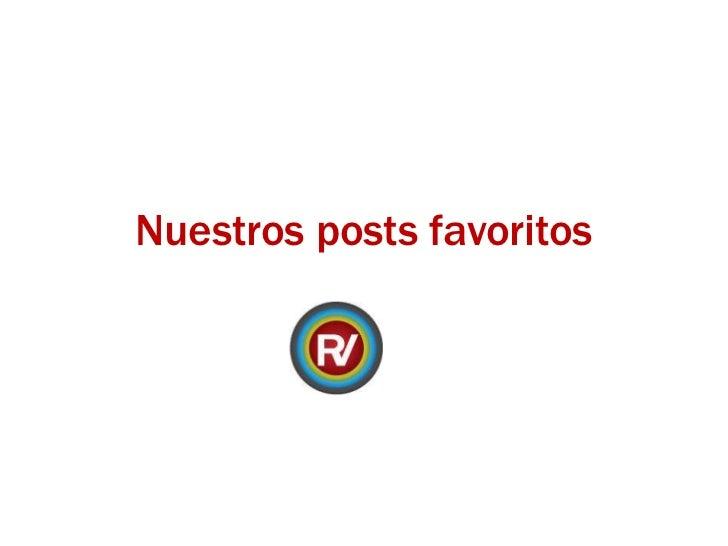 Nuestros posts favoritos