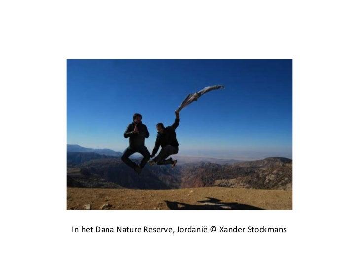In het Dana Nature Reserve, Jordanië © Xander Stockmans