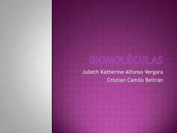 Julieth Katherine Alfonso Vergara          Cristian Camilo Beltrán