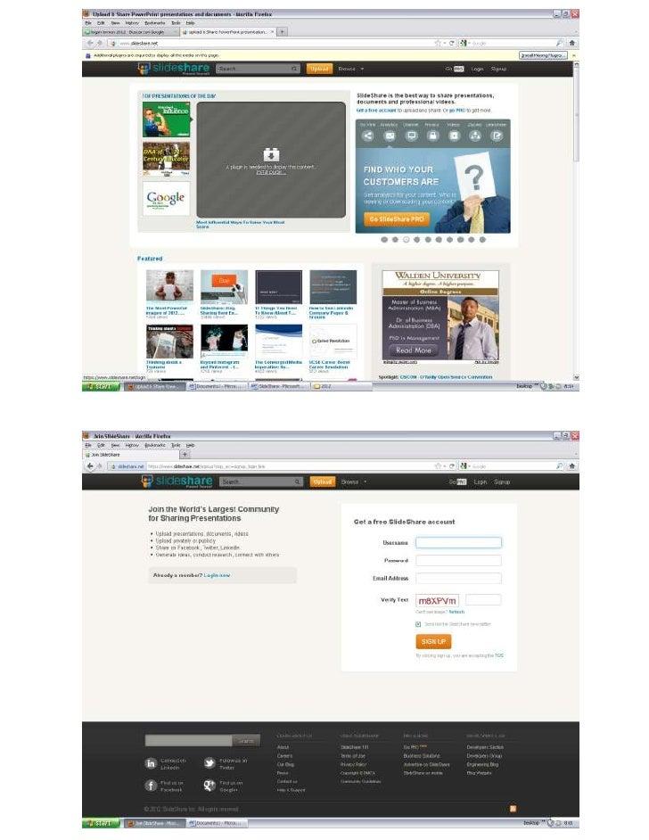 SlideShare es un espacio gratuito donde los usuarios pueden enviar presentaciones de diapositivasen PowerPoint, documentos...