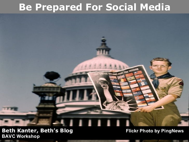 Beth Kanter, Beth's Blog   Flickr Photo by PingNews BAVC Workshop Be Prepared For Social Media