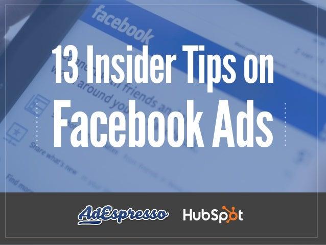 13InsiderTipson FacebookAds