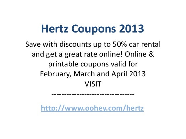 Hertz Coupons Code February 2013 March 2013 April 2013