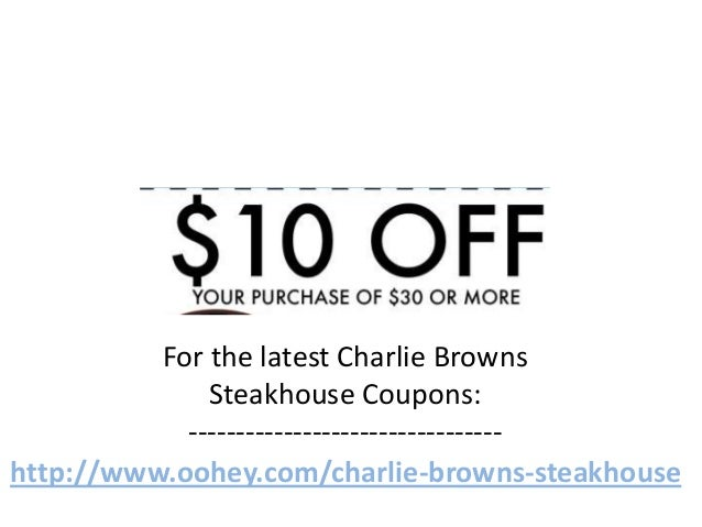 Charlie brown's coupons