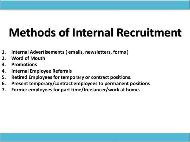 Types Of Recruitment