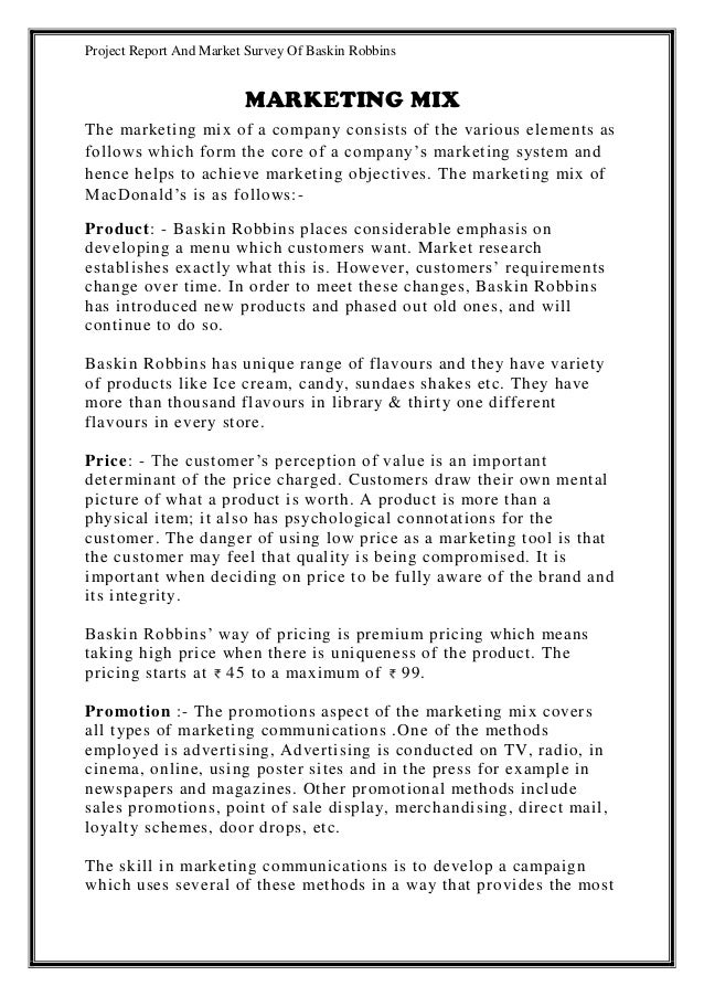 marketing reports examples - Holala
