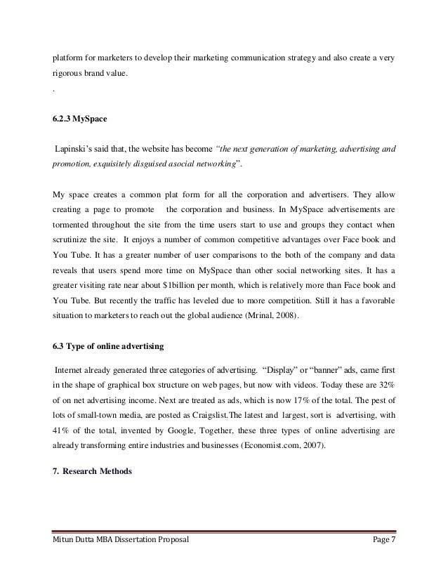 Dissertation online marketing
