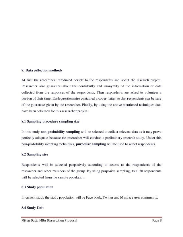 proposal for mba thesis