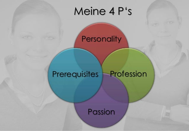 Meine 4 P'sPersonalityPassionPrerequisites Profession