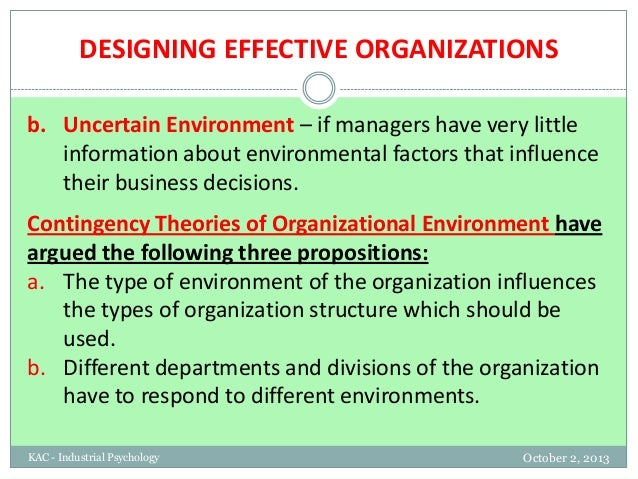 how should managers respond to environmental factors Organization's external environment  €environmental uncertainty should be used to predict the  respond quickly and coherently.
