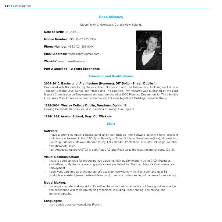 projects039 various skills 3 001 curriculum vitae - Typical Curriculum Vitae