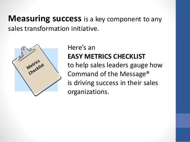 3 Simple Metrics to Validate Command of the Message® Results Slide 2