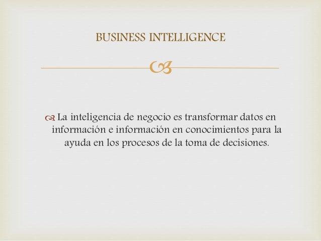 Business Intelligence y Toma de decisiones Slide 2