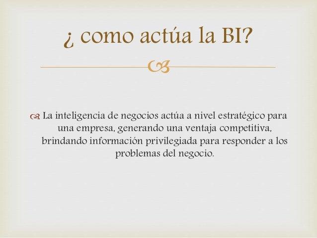 Business Intelligence y Toma de decisiones Slide 3