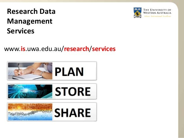Research Data Management Services at UWA Slide 2